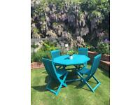 Beautiful Professionally Painted Table and 4 Chairs