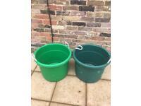 Round storage bin/garden drum extra large