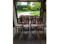 Set of 12 matching beech chairs