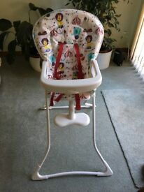 Graco Circus High Chair Excellent condition