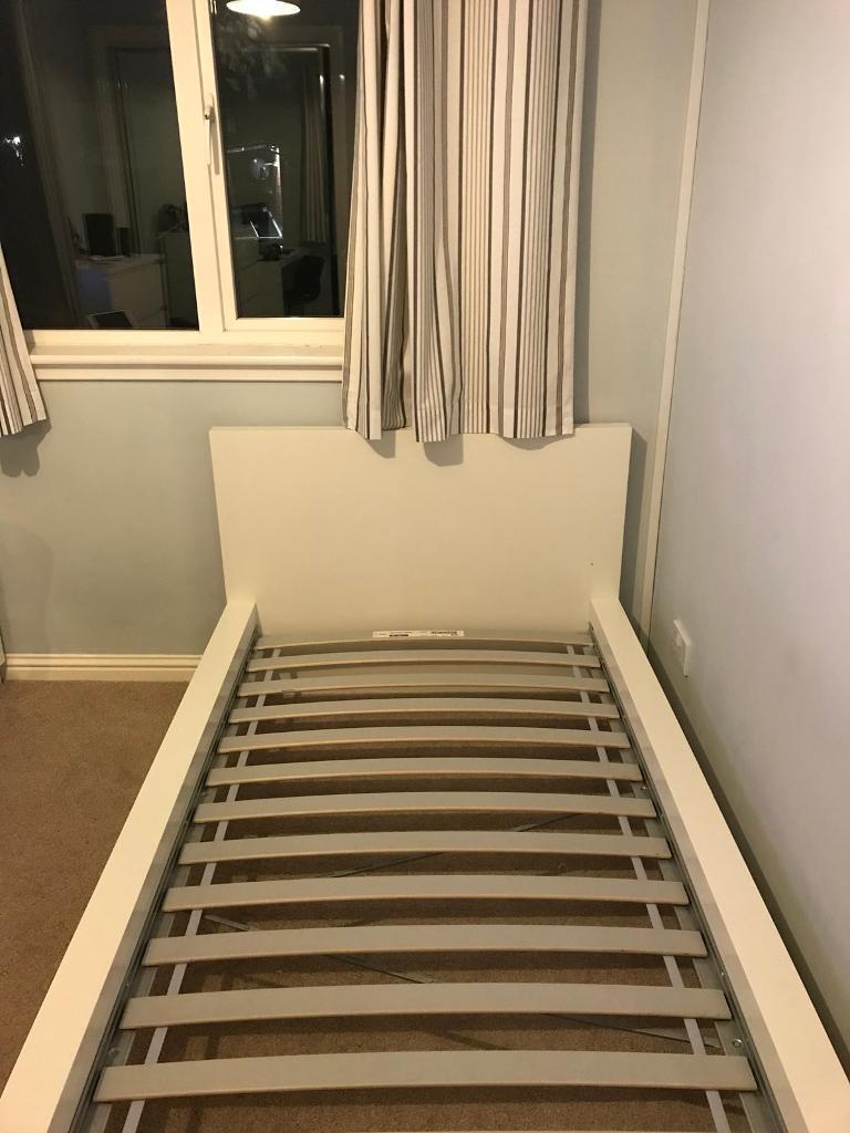Ikea Malm Single Bed Frame White In Wishaw North