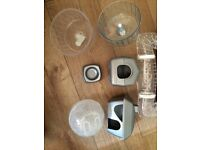 Small hamster cage and accessories