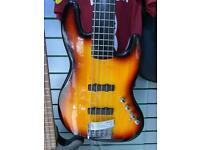 Fender squire Jazz 5 string bass guitar