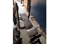 York Fitness 500 series weights bench + 40kg of weights