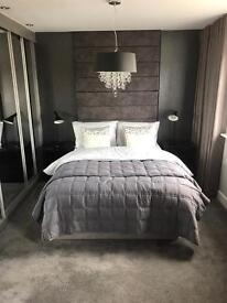 Double Bed -Headboard not included