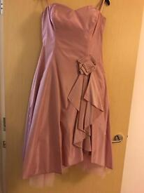 Pink evening/bridesmaid/prom dress size 14