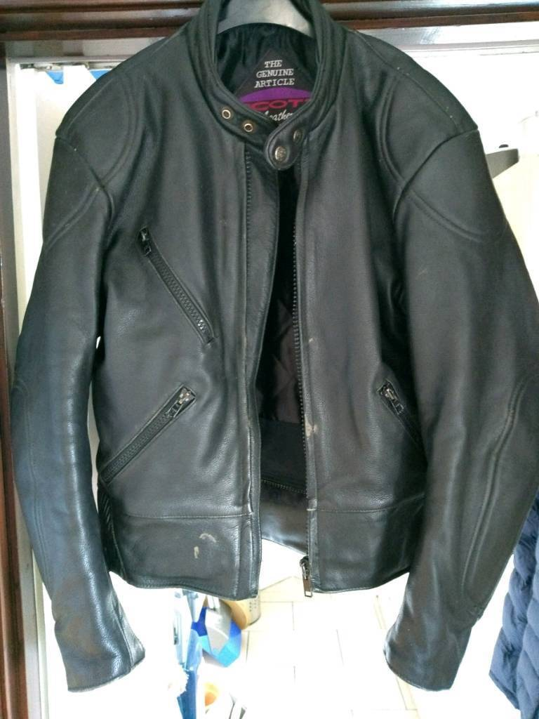 Scott Leathers vintage motorcycle jacket. Fits a 40.