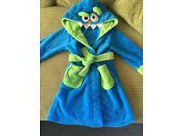 Boys monster hood dressing gown