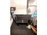 Mirrored bedside cabinet. Damaged. Free