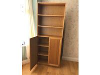 IKEA Billy bookcases with oak veneer