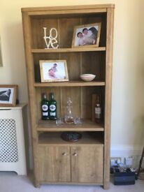 Tall Shelf Unit in Dark Oak from Next £40 - Great condition