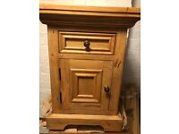 Pine 'Halo' bedside cabinet