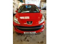 Excellent condition red Peugeot 207 HDI, very economic. - Urgent