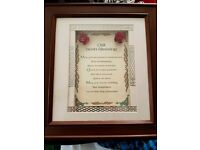 Irish Blessing Framed Picture