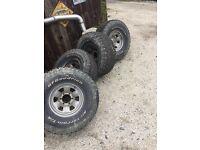 33 inch BF Goodridge tyres on chrome jap wheels