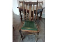Dining Table Barley Twist with four matching chairs