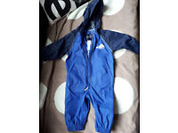 Baby boy toddler rain suit 9-12 months