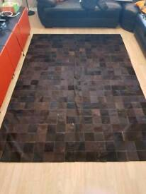 Large Ikea Patch Work Cowhide Rug