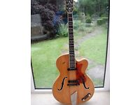 Hofner Guitar:President E2:Vintage 1959:Archtop:Electro-acoustic:Road worn.