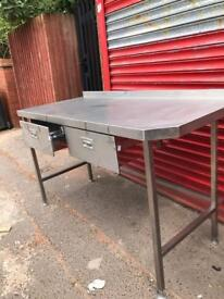 Stainless Steel Preparation Table With Draws