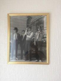 Enlarged collectors Beatles photo