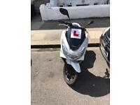 White Honda Pcx