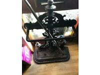 Antique cast umbrella walking stick stand