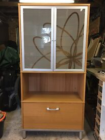 Ikea office shelving and filing cabinet