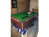 Pub size pool table