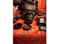 Eos 1300d cannon camera with lense efs 18 55mm zoom lense