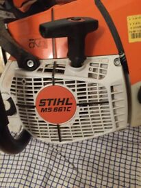 £550 Stijl 661c , used a couple of times, excellent condition, 3 foot bar chain with sharpener