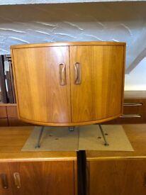 G plan Media/Drinks/Storage/Bedside Teak corner Cabinet on Steele Hairpin Legs 1970's Retro Chic