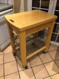 Butchers block and trolley