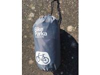 Bike parka waterproof cycle cover.