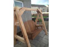 Larch wood swing bench