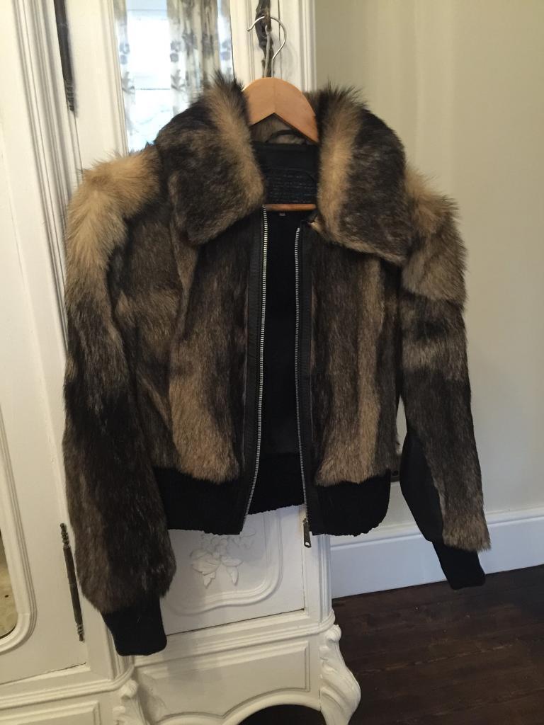 Real vintage wolf fur jacket