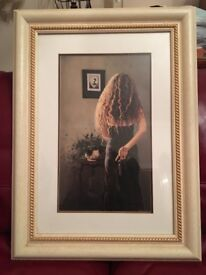 Mysterious Lady Ready to Leave - Large - Framed by Andrew Hutt, Kirkcaldy