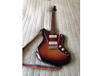 Redwood RJ1 Electric Guitar with strap and stand, offset Jazzmaster style as sold by Dawson's Music