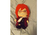 Grell Black Butler Plush Great Condition