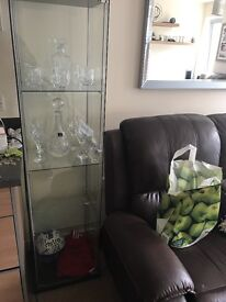 4 tier - glass cabinet - excellent condition only £25!!!