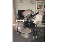Icandy peach silver Pram pushchair full system
