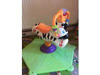 Fisher-Price bounce & spin zebra