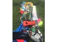 Wind sruf stuff pole sails wet suits plus other bits