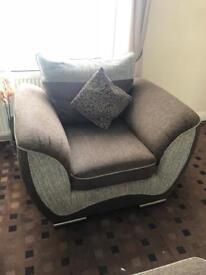 3 seater sofa 2 chairs and foot stool