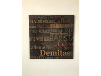 BRAND NEW - COFFEE ESPRESSO CANVAS WALL ART - Novelty Picture Print Coffee Shop & Kitchen Decor