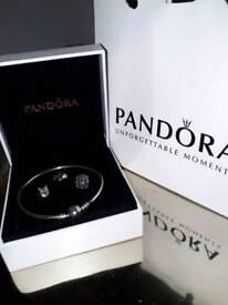Pandora bracelet and three charms