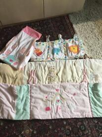 Cot bumpers,nappy holders