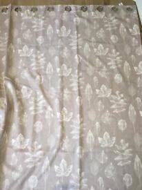 Dunelem eyelet lined curtains 228cm x 182cm