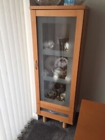 Matching sideboard and display cabinet excellent condition
