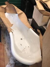 Brand new tub bath with sliver chrome feet